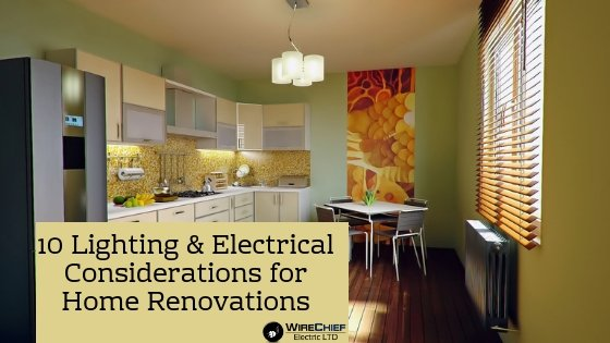 Electrical Lighting Considerations For Home Renovation